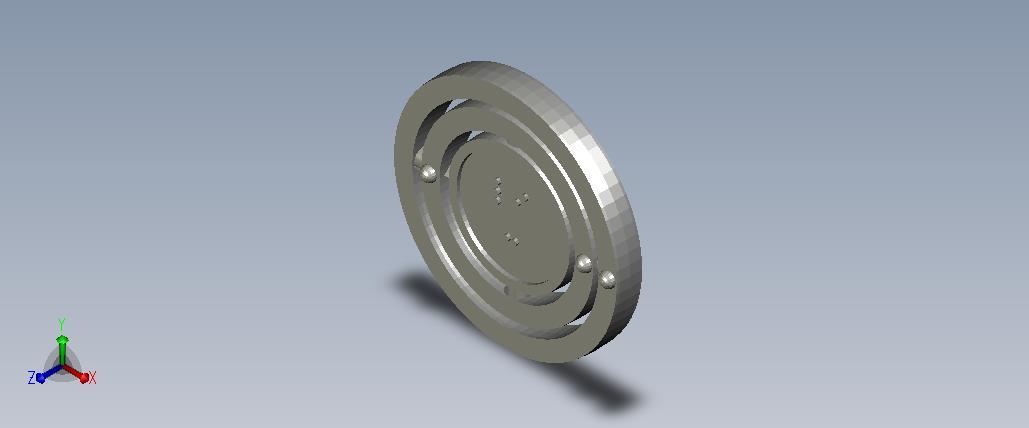 3D model of the atom Lithium