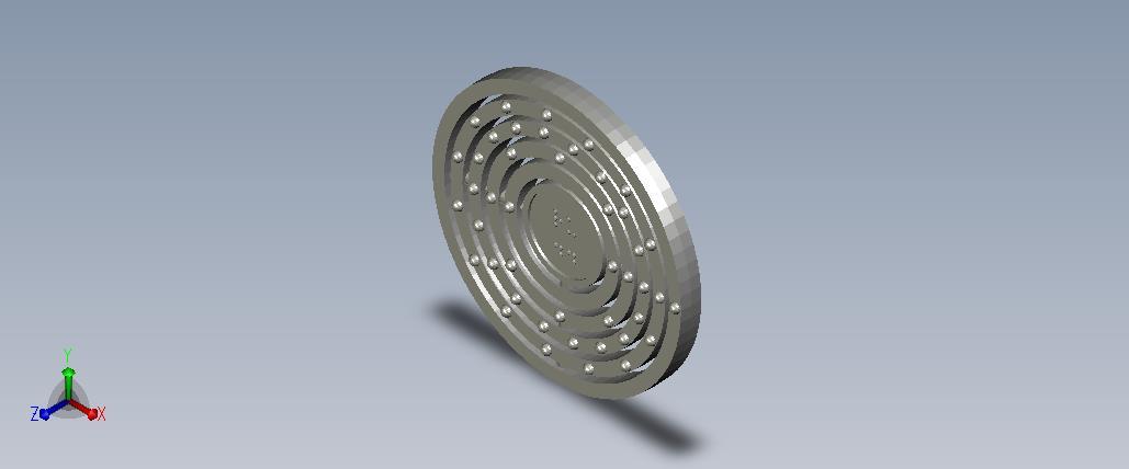 3D model of the atom Ruthenium