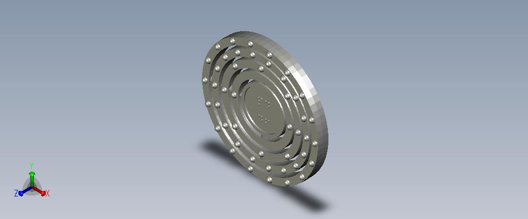 3D model of the atom Palladium