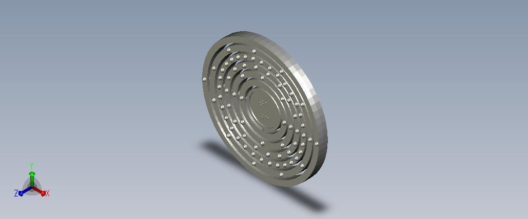 3D model of the atom Tantalum
